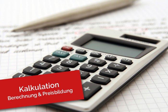 Kalkulation für berechnung und preisbildung