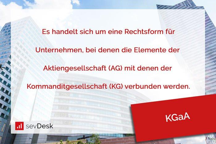 """Die Kommanditgesellschaft auf Aktien (KGaA), wird im englischen als """"Commercial partnership limited by shares"""" bezeichnet."""