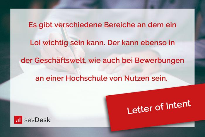 letter of intent schreiben