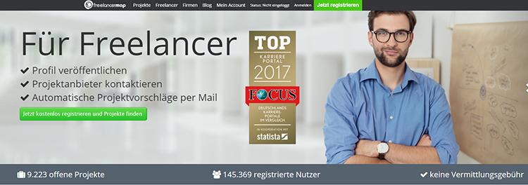 Projektbörse Freelancermap
