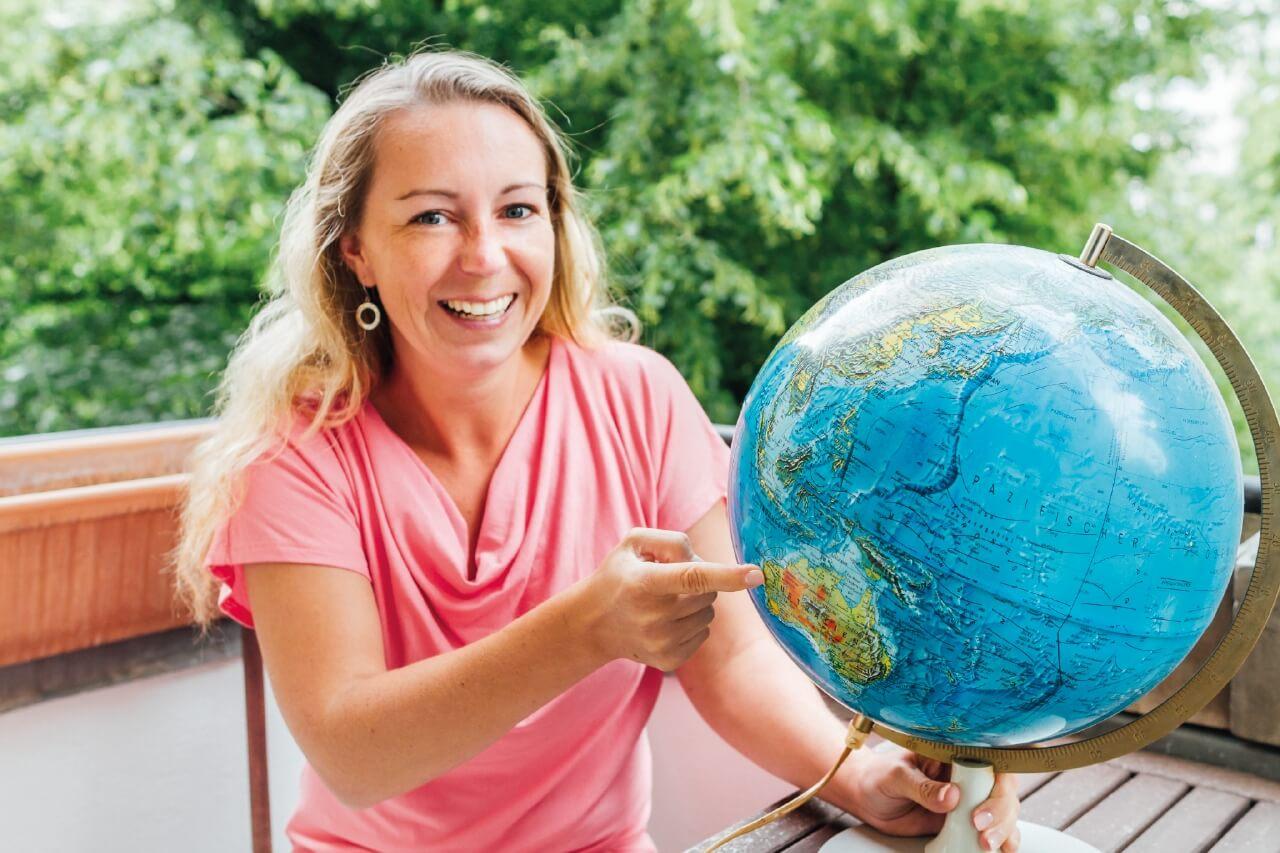 Carina Hermann reist als digitale Nomadin um die Welt.
