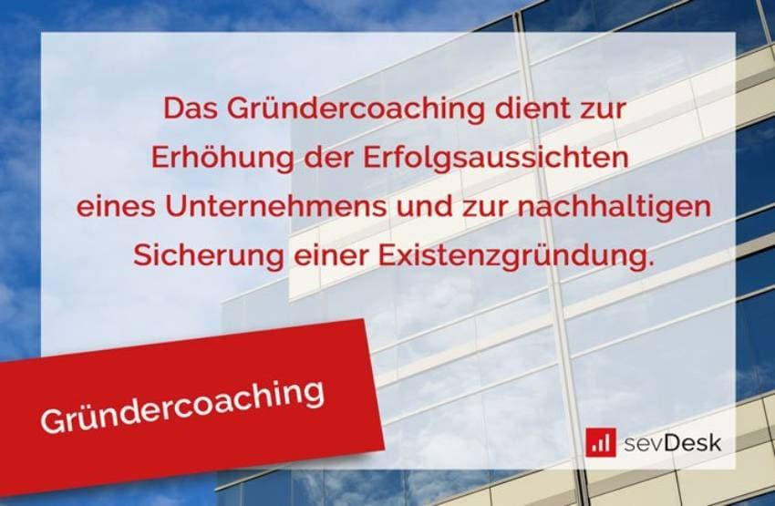 Definition des Gründercoachings