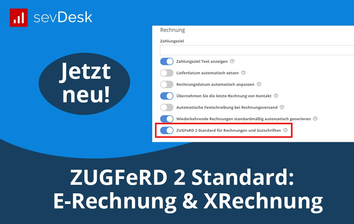 ZUGFeRD 2 Standard (E-Rechnung)