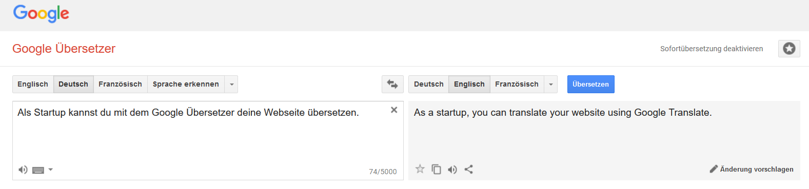 Der Google Übersetzer