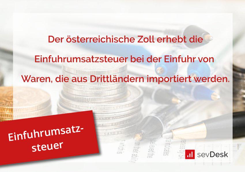 Einfuhrumsatzsteuer Österreich