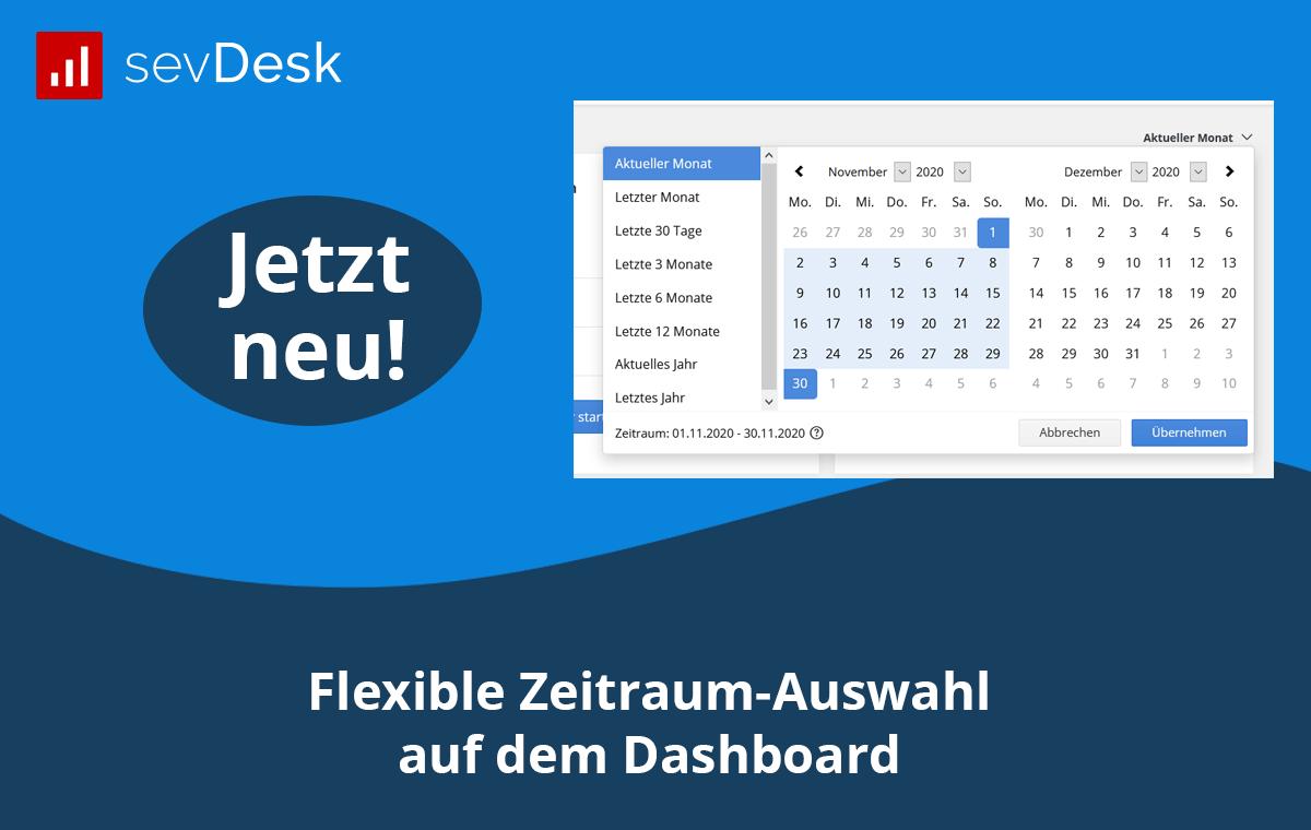 Flexible Zeitraum-Auswahl auf dem Dashboard