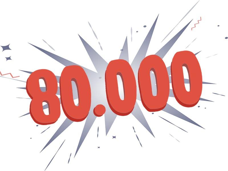 80.000 Nutzer