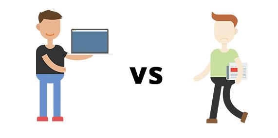 Online vs. Offline